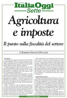 Agricoltura & Fisco